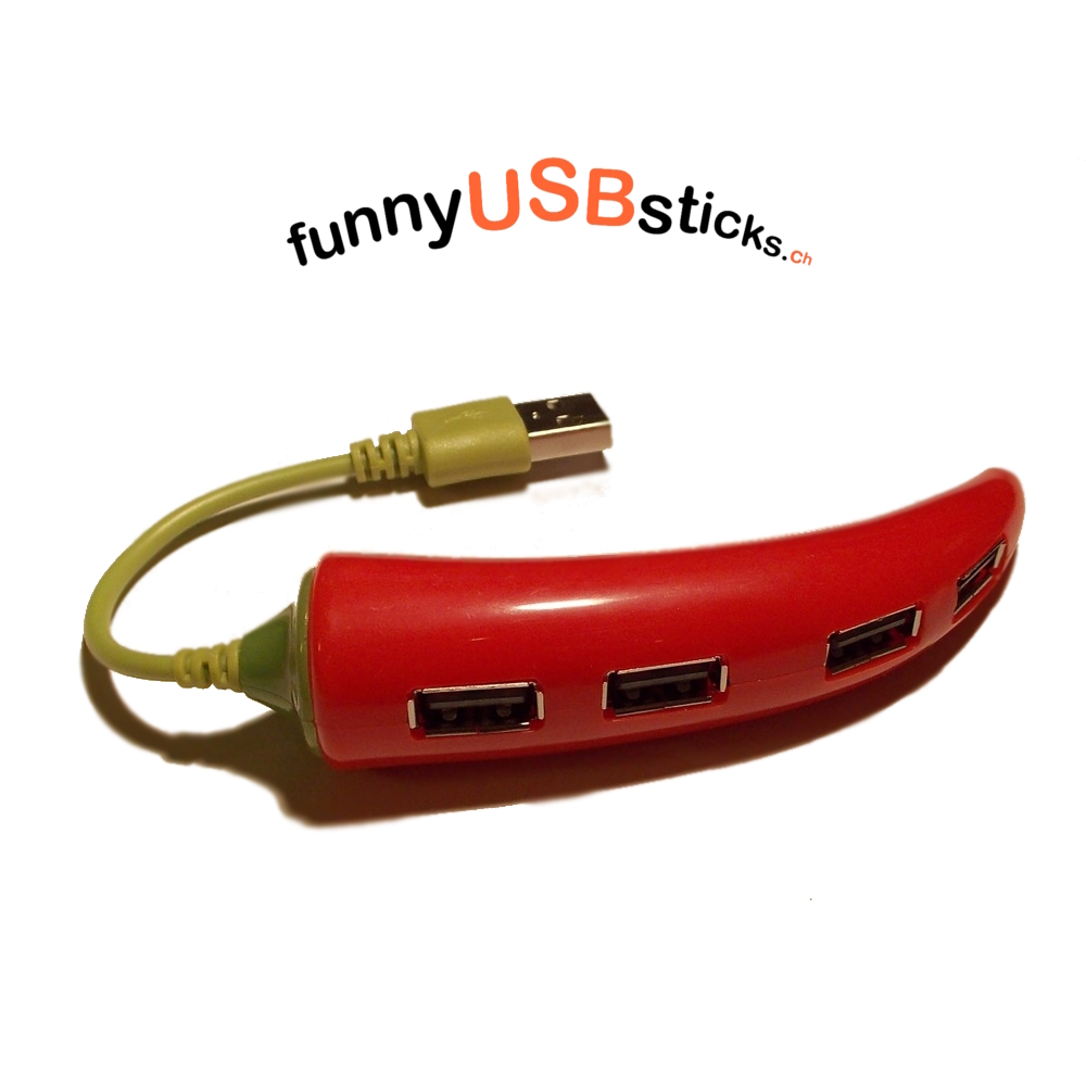 usb hub chili funnyusbsticks witzige lustige usb. Black Bedroom Furniture Sets. Home Design Ideas
