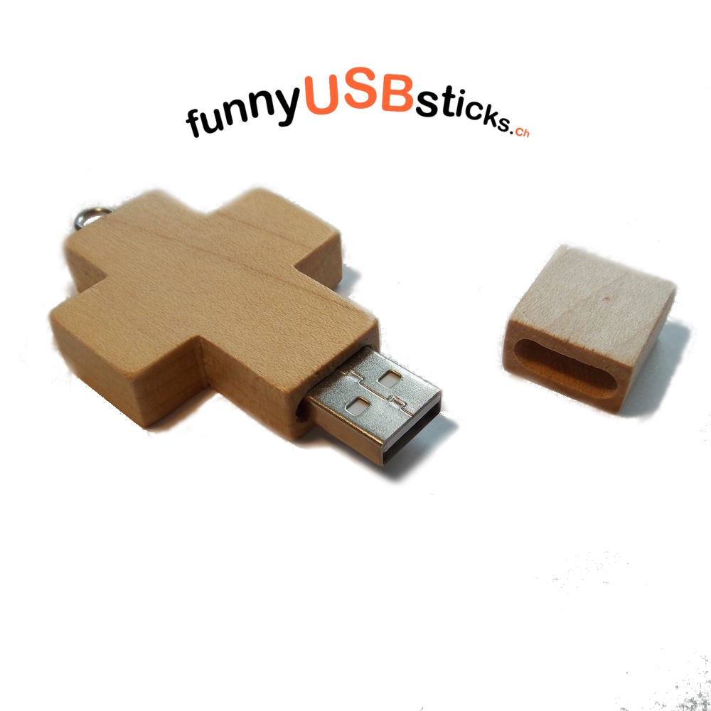 holzkreuz usb stick 8gb funnyusbsticks witzige lustige. Black Bedroom Furniture Sets. Home Design Ideas